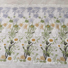 I-sunflower Lace Embroidery Fabirc yezingubo